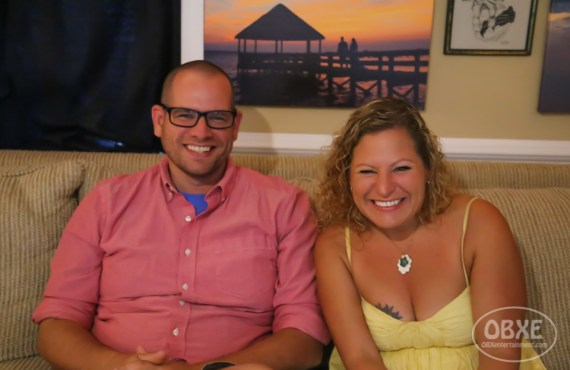 'Lost in Buffalo City' director Raymond Wallace with Sue Artz on the set of 'OBXE TV' on August 26, 2017. (photo by Matt Artz for OBX Entertainment)