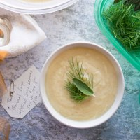 Roasted Parsnip Fennel and Sage Soup {Vegan}