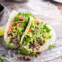 Nightshade Free Tacos with Cilantro Lime Sauce