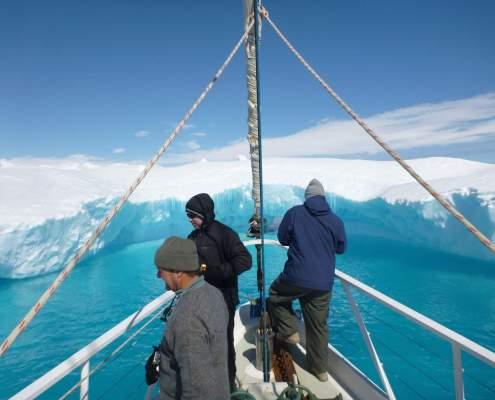 Turquoise ice in Antarctica