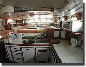 australis expedition support yacht galley