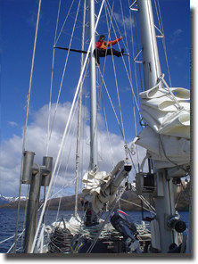 expedition yacht philos mast