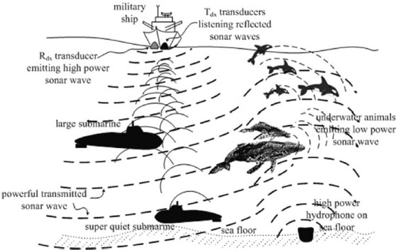 underwater electromagnetic communications Vlf electromagnetic fields are already used underwater in submarine communications but there's not enough data-carrying capacity for audio or video, just one-way texts.