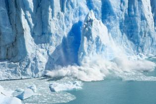 Fig. 4: Massive chunks of ice break off from glaciers in a process called calving (lonelyplanet.com).