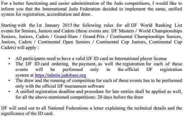 IJF ID Cards compulsory for OJU Championships