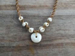 Ocean Tuff Jewelry - Puka Pendant Necklace with Puka Shell Accents