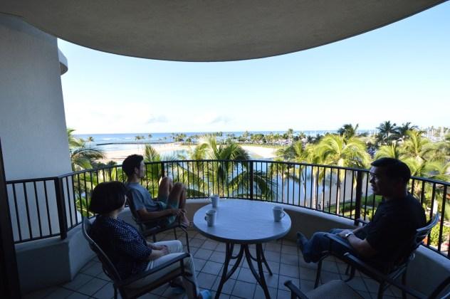 Hilton lagoon tower timeshare unit lanai also called veranda