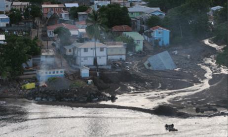 Figure 3a - Destruction from Tropical Storm Erika (Dominica) [4]