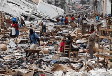 Figure 4a - Destruction from Earthquake in Haiti[6]