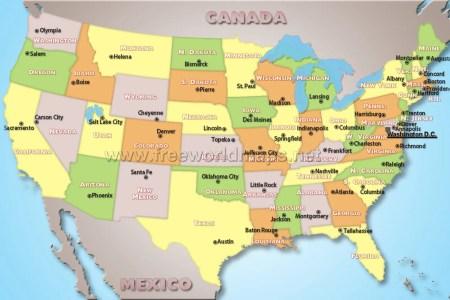 us capitals mappolitical map of the united states 92tsodpb