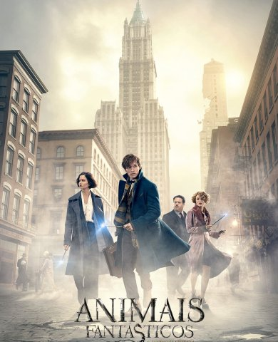 "Poster for the movie ""Monstros Fantásticos e Onde Encontrá-los"""
