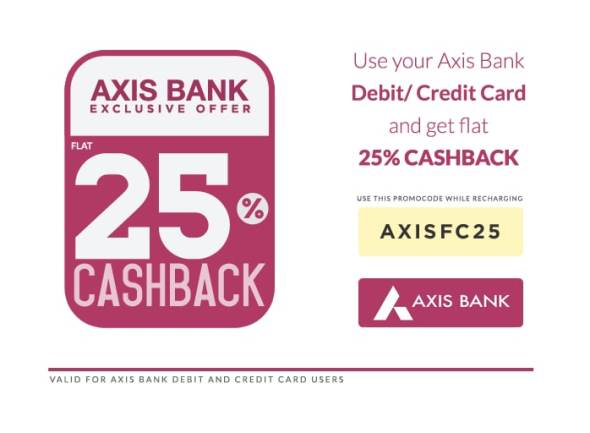 freecharge axis bank neo credit card offer