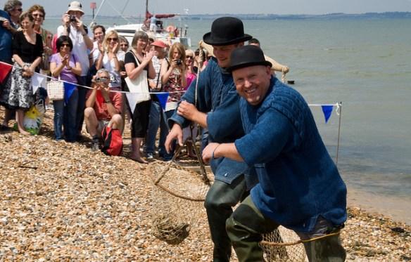landing of the oyster, Whitstable Oyster Festival