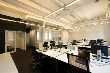 white and black modern office interior design