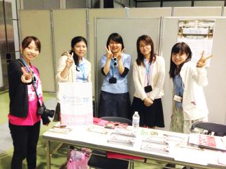 IT関係のイベント「WordCamp Tokyo 2014」でブース出展。7Fでは外部のイベントにスポンサー協賛もしますので、自分が望めば外部のイベントに仕事として参加することもできます。
