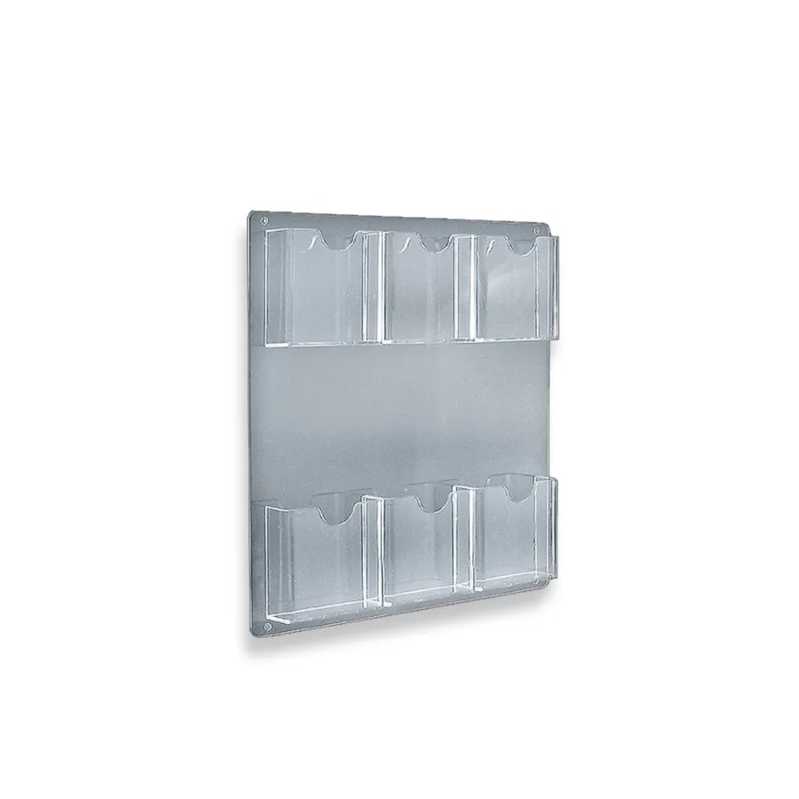 Azar Displays Wall Mount Brochure Holders 6 Pockets 15 x 16 12 Pack     Azar Displays Wall Mount Brochure Holders