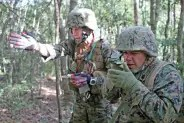 Land Nav with a lensatic compass. And the buddy system.