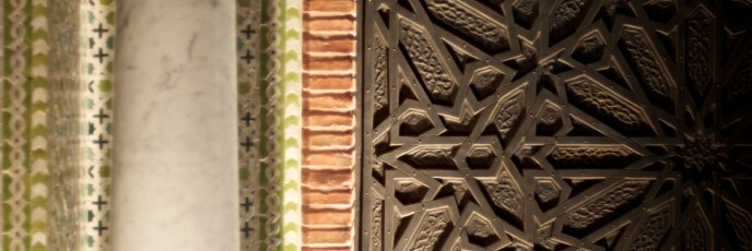 marrakech- door to lavish hotel royal mansour
