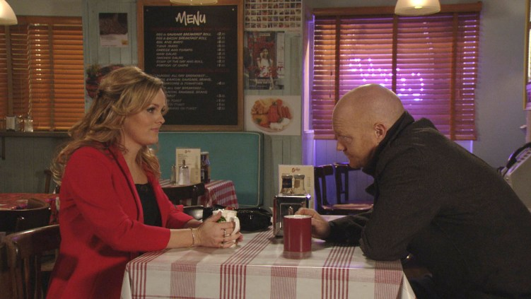 Jo Joyner and Jake Wood during #EELive © BBC / Screengrab