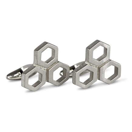 H&B London's Sterling Silver Hexagon Cufflink