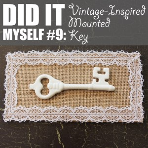 Vintage-Inspired Mounted Key