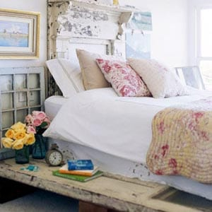 A Shabby Chic home decor style bedroom.