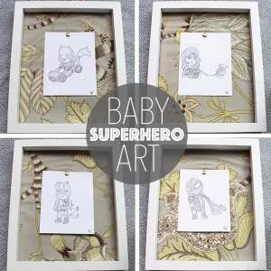 Super Adorable Baby Superhero Art for a Nursery