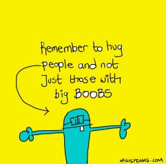 Hug People And Not Just Those With Big Boobs
