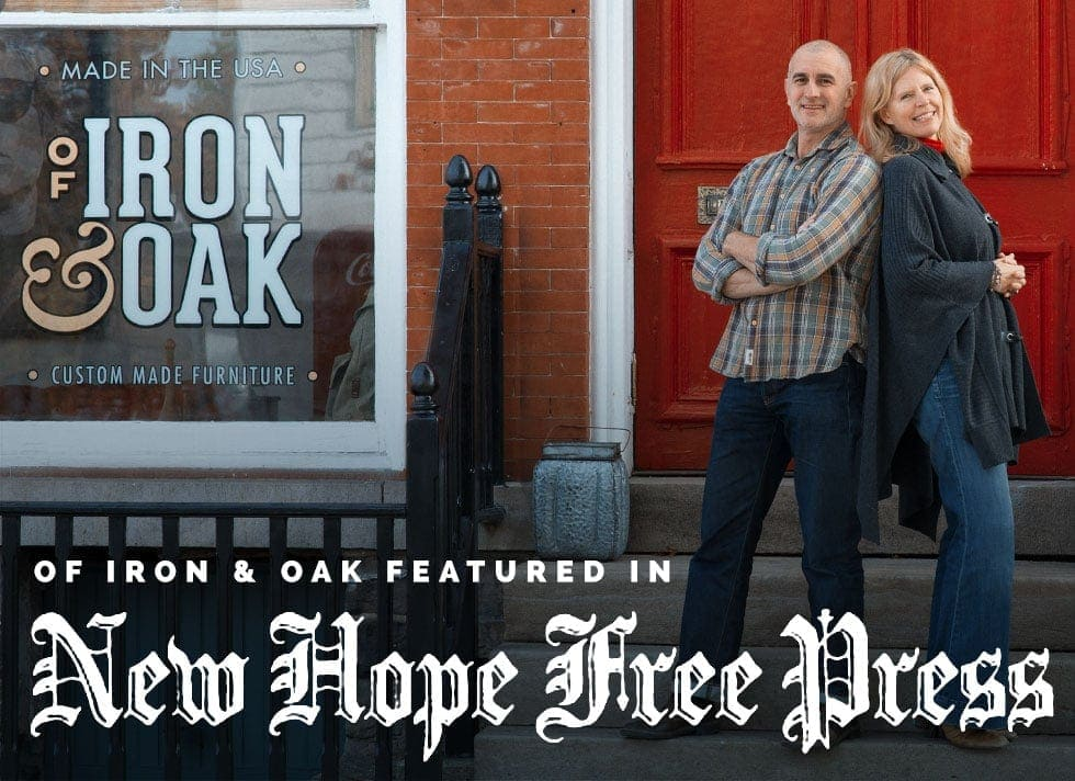 Of Iron & Oak Featured In The New Hope Free Press