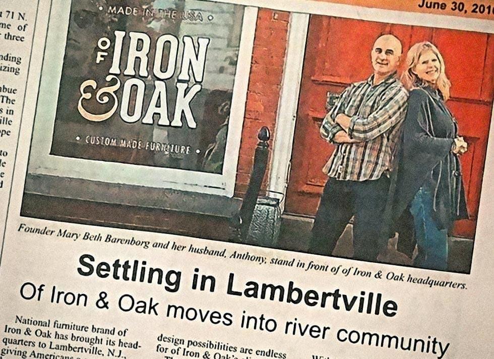 Bucks County Herald Features Of Iron & Oak