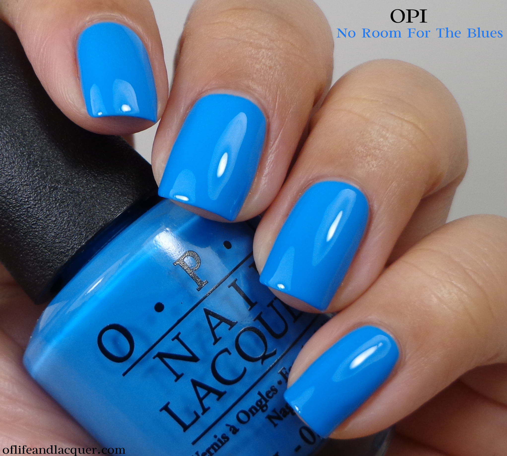 No Nail Polish: OPI No Room For The Blues...Cause I'm Feeling Blue