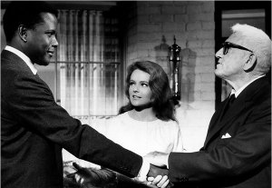 "Sidney Poitier with Katharine Houghton and Spencer Tracy in ""Guess Who's Coming to Dinner."" (Everett Collection, courtesy of The New York Times)"