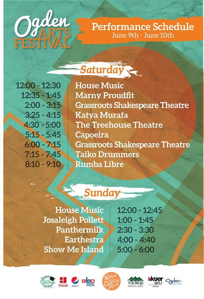 Ogden Arts Festival Performance Schedule