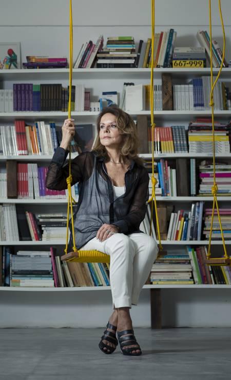 A arquiteta Elizabeth de Portzamparc no IED, onde lançou seu livro Foto: Leo Martins/ O Globo