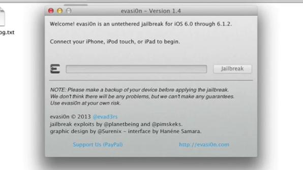 Click to Start Jailbreak iOS 6.1.2 using Evasi0n