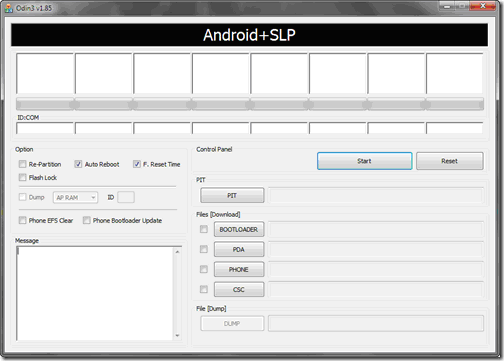 Odin3: Android+SLP