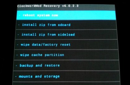CWM Recovery Samsung Galaxy S3
