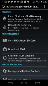 ROM Manager: Lets you Boot into Recovery Mode