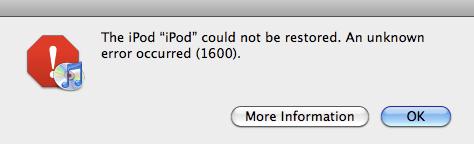 iTunes Error 1600: How to Fix