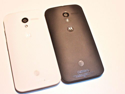Motorola Moto X in White and Black Colors