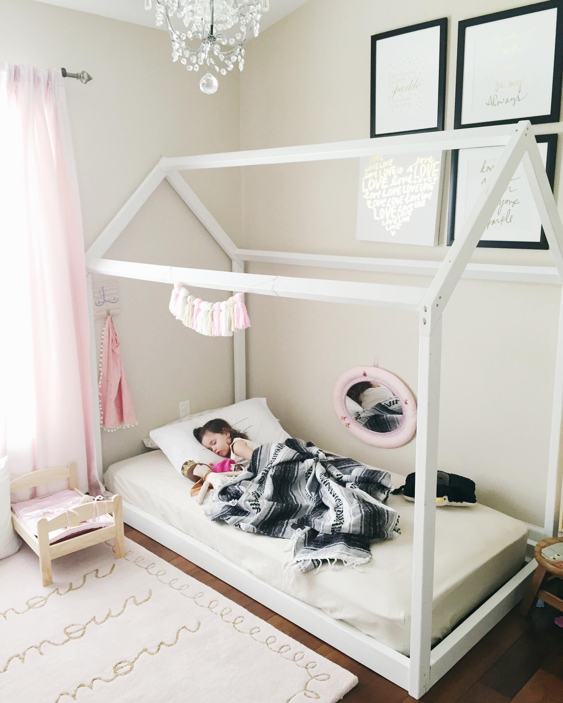 Montessori Floor Toddler Bed, Floor Bed, Toddler Bed, Toddler Floor Bed,  Montessori
