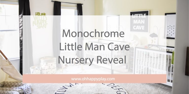 The Twins' Monochrome Little Man Cave Nursery Reveal