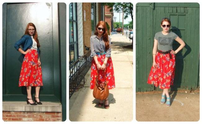 Floral Midi Skirt Love | One Skirt, Three Looks