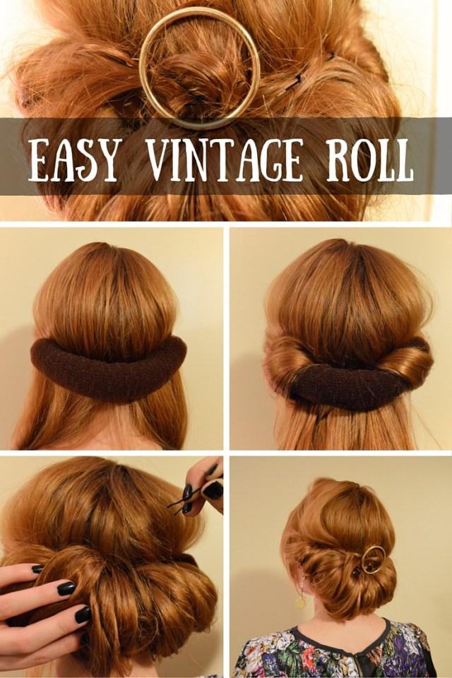 OHJULIAANN beauty hair tutorial - easy conair vintage roll with round circle sephora barette (11)