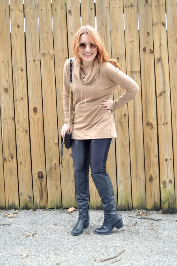 Nygard Slims Pleather Leggings with Rebecca Minkoff Crossbody Purse and Pullover - Winter Outfit - Oh Julia Ann (3)
