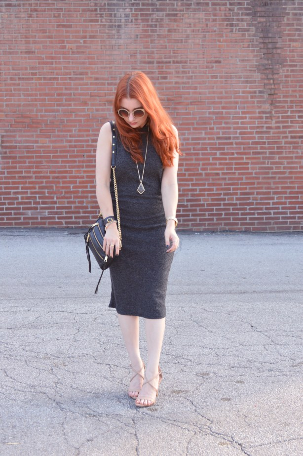 Knit Midi Dress by Tobi with Kendra Scott Jewelry and Strappy Steve Madden Heels - Outfir by Oh Julia Ann (3)