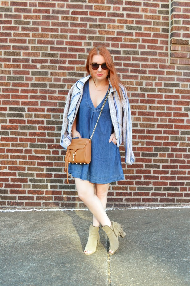 Rebecca Minkoff MAC Crossbosy Purse and Striped Jacket Summer Outfit - Oh Julia Ann (1)
