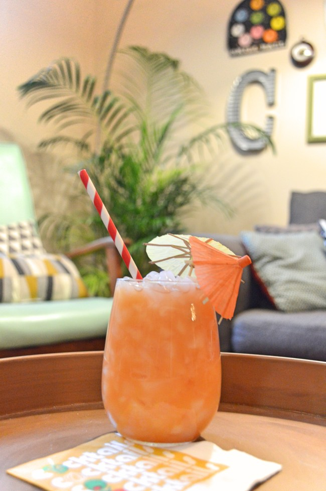 Toasting Summer Goodbye // Tropical Iced Tea-Quila Cocktail