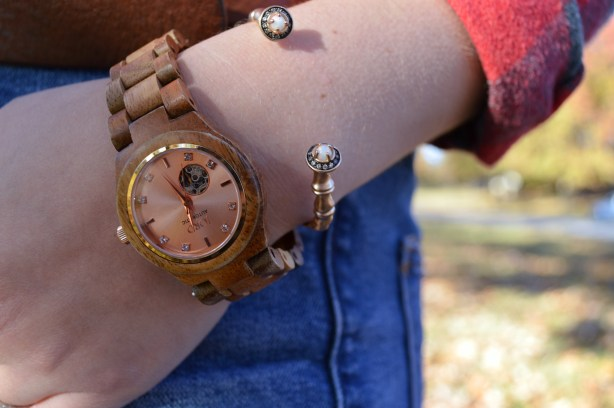 jord-wood-watch-styled-for-autumn-with-plaid-and-denim