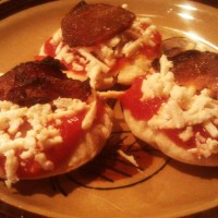 homemade vegan pizza lunchables...not a complete fail!